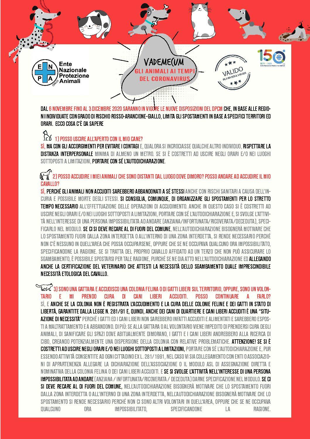 Cosa Cambia Con Il Nuovo Dpcm Per La Cura Degli Animali Ecco Il Vademecum Aggiornato Dell Enpa Enpa Vicenza